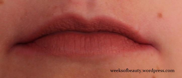 Milani Matte Moisture Lipstick Naked 61 swatch-weeksofbeauty.wordpress.com
