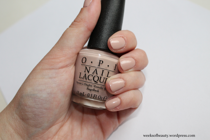 OPI Tiramisu for Two swatch - weeksofbeauty.wordpress.com