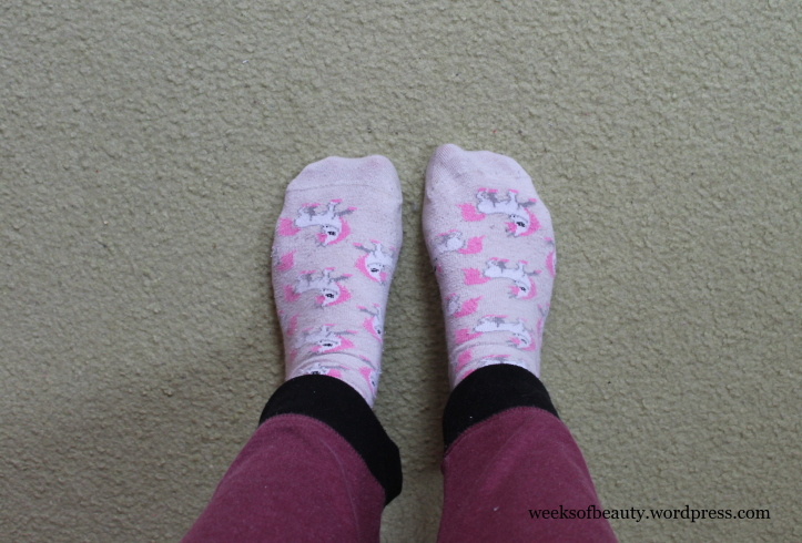 Unicorn socks-weeksofbeauty.wordpress.com