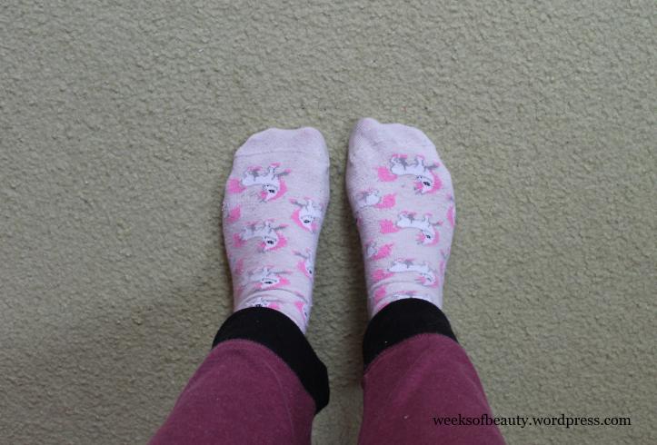 Unicorn socks-weeksofbeauty.wordpress.com