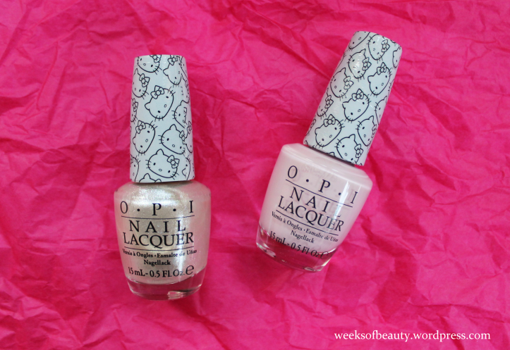 OPI Hello Kitty Kitty White Let's Be Friends