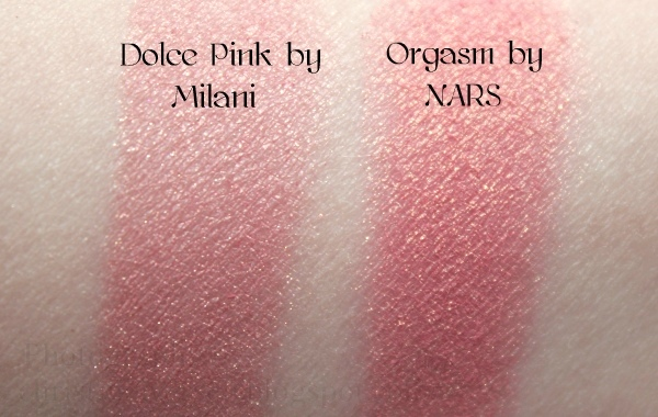milani dolce pink and nars orgasm