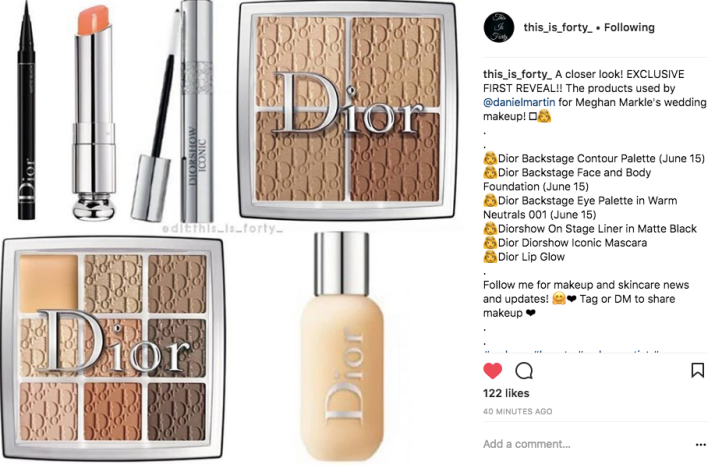 meghan markle s wedding makeup dior as the brand of choice allegedly weeks of beauty meghan markle s wedding makeup dior